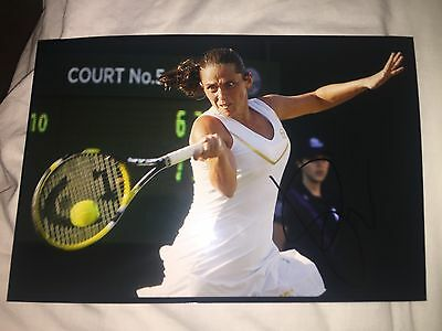 Roberta Vinci Hand Signed 12X8 Photo