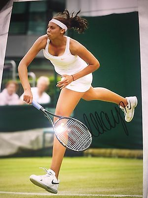 Madison Keys Hand Signed 12X8 Photo