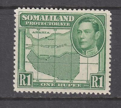 SOMALILAND PROTECTORATE, 1938 KGVI, 1r. Green, lhm.