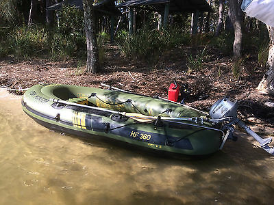 Savyoler Inflatable Boat 3.6m & outboard motor and extras