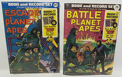 Planet Of The Apes / Escape From Planet Of The Apes : Book And Record Sets 1974
