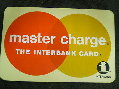 Vintage Master Charge, The InterBank Card Sign / Placard - ( In Great Shape !)
