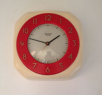 Vintage Smiths Sectric Kitchen Wall Clock Retro Display 1930-50's (Not Working)