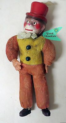 vintage 1940s CELLULOID & EXCELSIOR MONKEY DOLL WITH TOP HAT large Version