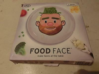Dinner Plate for Kids Food Face Ceramic Plate by FRED Children's Dish in box
