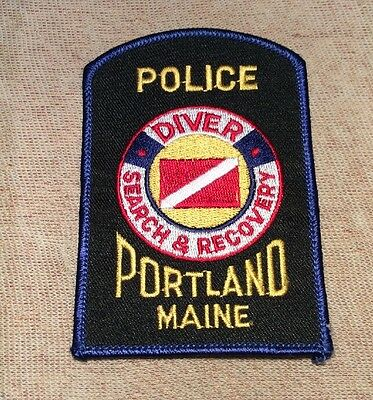 ME Portland Maine Diver Search & Recovery Police Patch