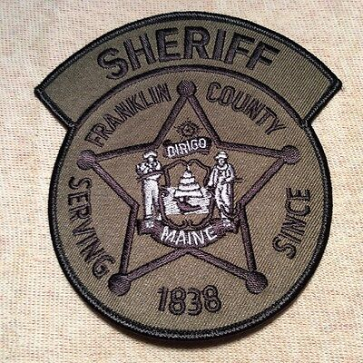ME Franklin County Maine Sheriff Patch (Olive)