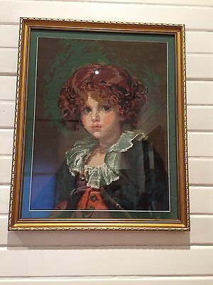 Gold Framed Tapestry Little Page Boy