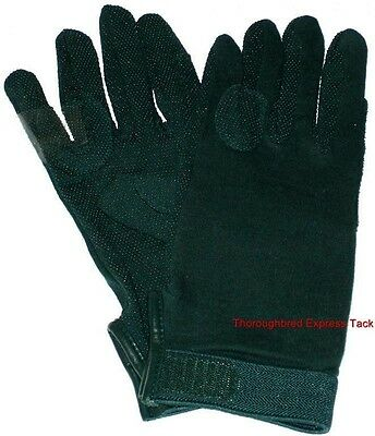 Great Grips Hunter Green Equestrian Riding Gloves XL Western English Equine