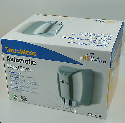 Royal Sovereign Commercial Touchless Automatic Hand Dryer, Dries Less 15 Seconds