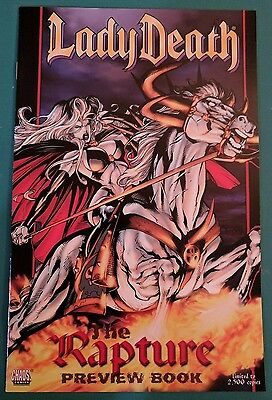 Lady Death Rapture Preview #1 Reis Pulido Chaos Comic Book Limited 2,500 Copies