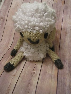 Crochet Lamb Sheep Stuffed Animal Nursery Baby Shower Plush
