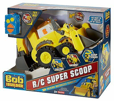 NIB Fisher-Price Bob the Builder R/C Super Scoop Talking Motorized Vehicle NEW