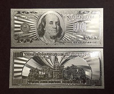.999 Silver One Hundred Dollar $100  US Banknote plus With Sleeve Included