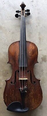 Old Violin, probably English, ca. 1800. Grafted Neck, for Restoration