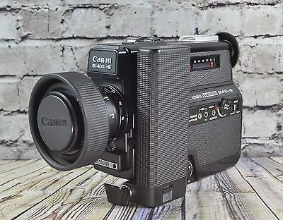 (Working) Excellent Canon 514Xl-S Super 8 Movie Camera  F/1.4 Lens Movie Below