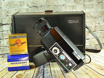 **working* Super Yashica Super 800 Electro Super 8 Camera Film Used X-Tras Video