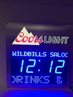 """Coors Light Count Down Clock LED Sign Remote Programmable ~ NEW In Box 24"""" X 24"""""""