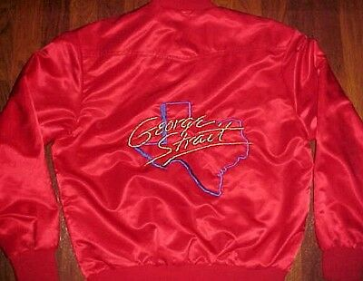 Westark USA Texas Country Western George Strait Red Adult Nylon Button Jacket M