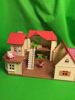 Calico Critter lot Epoch House Townhouse Cottage Bear Furniture