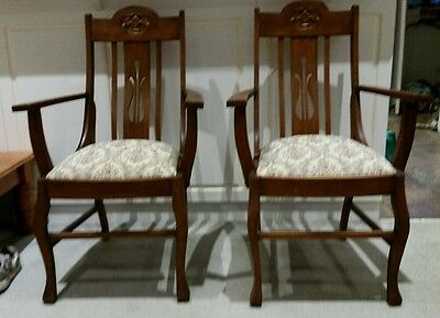 Vintage carver chairs (2)