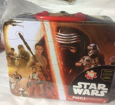 Star Wars The Force Awakens Metal Lunch Box 100 pc. Puzzle NEW Still Sealed LOOK