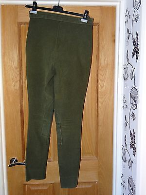 Ladies Green Cord Horse Riding Jodhpurs