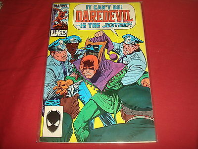 DAREDEVIL #218  Marvel Comics 1985   VF-