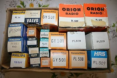 Lotto  Valvole -  Lot   Tubes - Valves   Vintage   Nos -  Look  At  My  Listing