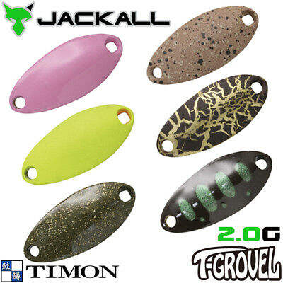Assorted Colors JACKALL TIMON T-GROVEL 2.0 g Trout Spoon