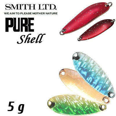 Assorted Colors SMITH PURE SHELL 5 gr Trout spoon
