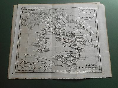100% Original Italy  Map  By Guthrie C1794 Vgc