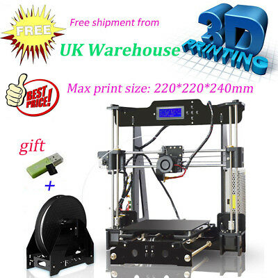 UK Auto Leveling 3d Printer DIY Assembly High Quality Frame Acrylic Reprap Prusa
