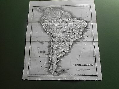100% Original South America  Map  By Walker/thomson C1808 Vgc