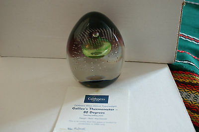 Stunning Caithness  Galileo's Thermometer 80 Degrees paperweight