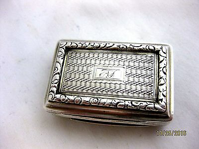 Antique Solid Silver LARGE VINAIGRETTE   Hallmarked  BIRMINGHAM 1826