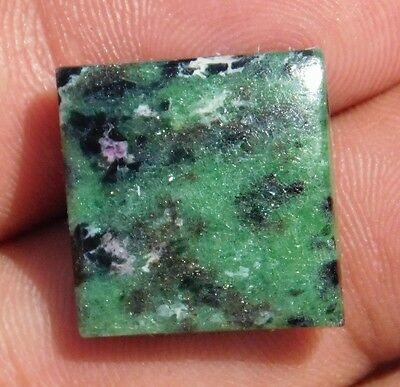 24.45Cts Nice 100% Natural Superior  Ruby Zoisite 19X18X5 Mm Cabochon Gemstone