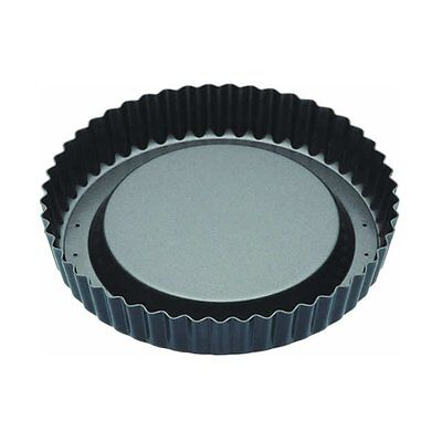 """Master Class Non-Stick Raised Fluted Sponge Flan Tin With Loose Base, 20 cm 8"""""""