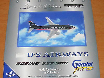 Gemini Jets 1:400 Boeing 737  Us Airways  N375Us