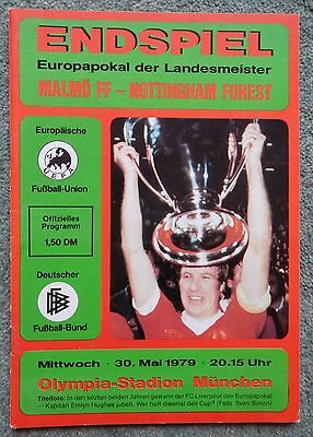 European Cup Final - Nottingham Forest v Malmo - 30th May 1979