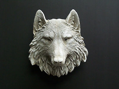 Latex Mould Mold Molds Of A Stunning Wolf Head Wall Plaque