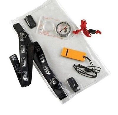 Trekmates Dry Map Case, Compass and Whistle Set