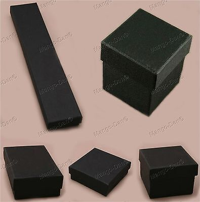 Black Jewellery Gift Boxes For Ring Earrings Bracelet Necklace Choice Of Sizes