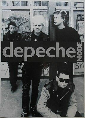 DEPECHE MODE Dave Gahan, Martin Gore, 33 x 23 Inch Black And White POSTER
