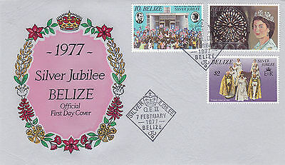 Belize 1977 Silver Jubilee Official First Day Cover Pictorial Cancel