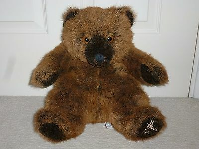 """Harrods 13"""" Annual New England Christmas Grizzly Teddy Bear.  Foot dated.  VGC"""