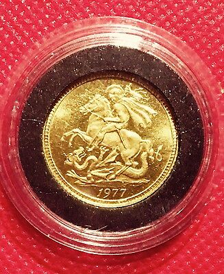 9Ct Gold 1977 Half Sovereign Sized Coin In Collectable Condition Cost New⭐£125 ⭐