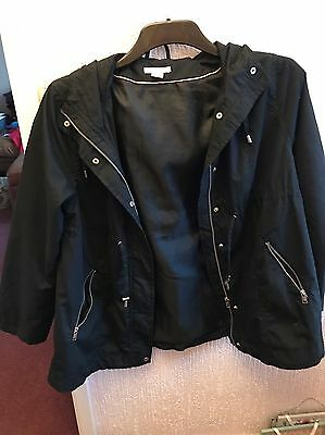 H&M Mama Black Hooded Jacket Size L