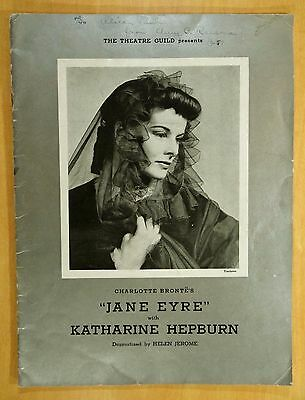JANE EYRE with KATHERINE HEPBURN Souvenir Program 1937 THE THEATRE GUILD