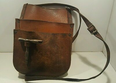 Vintage Leather Bag Cash Bus Conductor Money Belt From London Country Buses